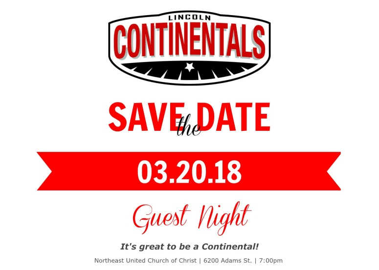 Guest night 3.20.18